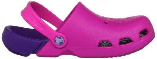 Crocs Electro Kids, Sabots Mixte Enfant Rose (Neon Magenta/Neon Purple)