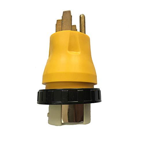 Festnight Netzkabel-Adapterstecker 15A-Stecker auf 50A Twist-Lock-Buchse für RV-Camper - 50a Twist-lock-stecker