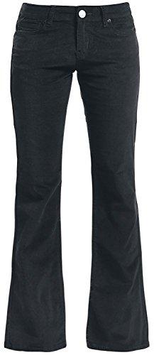 Black Premium by EMP Cord Extra Boot (Boot-Cut) Pantaloni donna nero W35L34