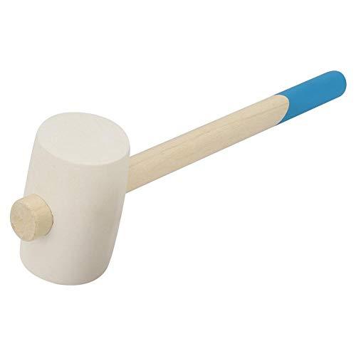 Gummihammer mit Schlagfestigkeitsgriff aus Naturholz für Montagearbeiten Manual Mallet Tool(16 Unzen) -