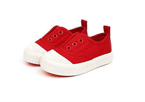 ALUK- Baby Schuhe - Kinder Leinwand Schuhe Lernen Lazy Schuhe Casual Schuhe ( Farbe : Rot , größe : 30 ) Rot