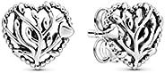 PANDORA Women's Tree Of Love Silver Stud Earrings - 29