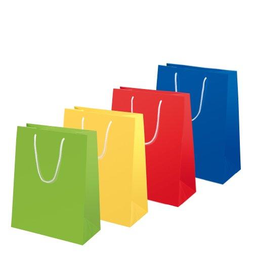 Susy Card 11277605 Geschenktaschen, 10-er Packung, glänzendes Papier