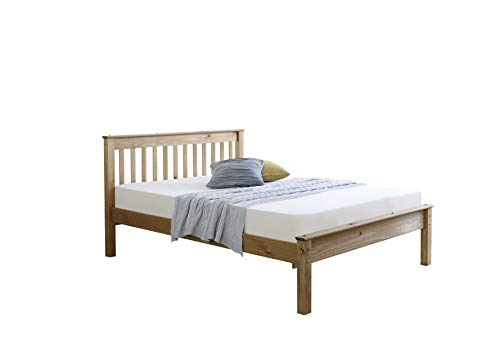 5ft King Size Solid Pine Wooden Bed Bedstead - Waxed Pine (Made from Brazilian Sustainable Pine)