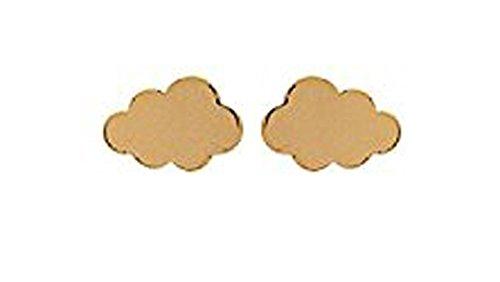 Ohrstecker mit Chips vergoldet Form Cloud-Schmuck Damen oder Kinder Mädchen