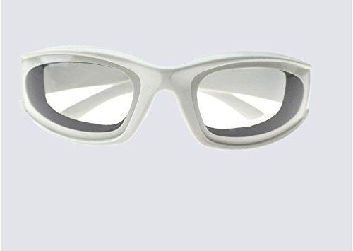 ele ELEOPTION Zwiebel Schutzbrille dauerhafte Winddichte staubdicht Zwiebel-Brille Augen Protector (Weiß)