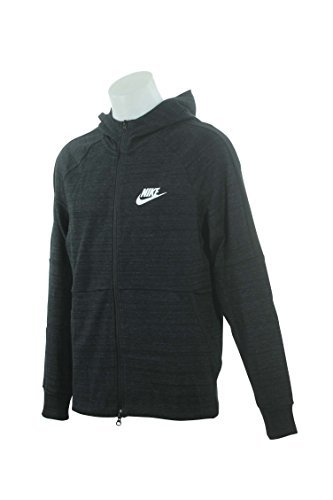 Nike M Nsw AV15 Hoodie FZ Knit, Hooded Full Zip LS Top Herren, Herren, 943325, Nero/Htr/Nero/Bianco, XL (Nike Zip Top)