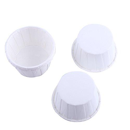 Yosoo 100er Backen Tassen Mini Papier Kuchen Cupcake Wrappers Fällen Halter für Muffin Cups Liner Cupcake Papier Backen Farbe für Halloween Hochzeit Geburtstag Party Dekoration Allerheiligen(White)