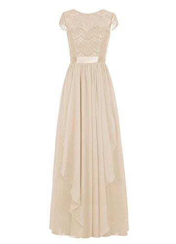 Dresstells, Robe de soirée, robe de cérémonie, robe longue de demoiselle d'honneur Champagne