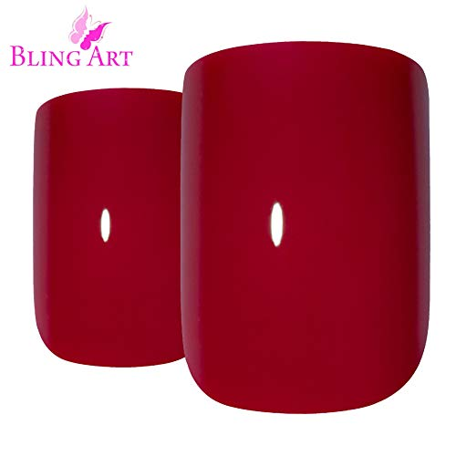Art bling faux ongles manucure française Rouge Feu me Up Medium Conseils UK
