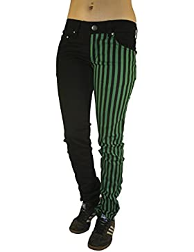 Rock Rag - Pantalones Stripes, Color: Negro/Verde