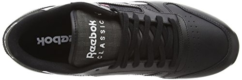 Reebok - Classic Leather Pop Sc, Scarpe Da Corsa da uomo Nero (Black (Black/Dgh Solid Grey/White))