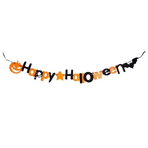 circulor DIY Banner Girlande Jubiläum Banner Hüte Und Zubehör Kränze Set Bunte Party Dekorationen (Halloween Diy Tür-kränze)