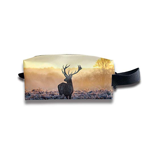 Basic-wild Banana (Makeup Cosmetic Bag Cute Wild Deer Graphics Travel Make-Up Bags Pen Case Portable Storage Multi)