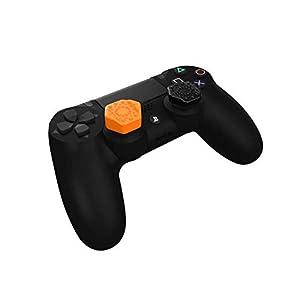 Pro-Hex Thumb Grips – PS4 – 2 Orange / 2 Black Pack