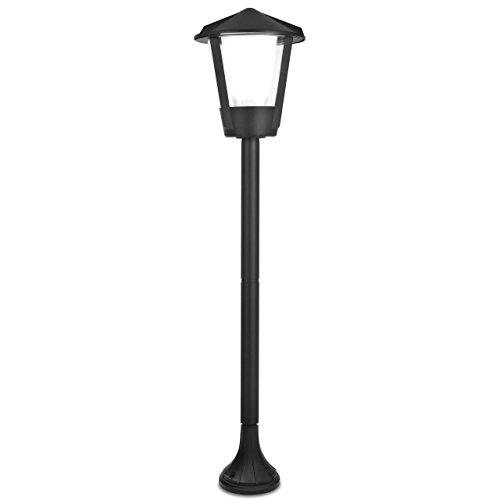 Eco Light Lampadaire classique Corne pour extérieur, Aluminium, E27, IP54 moulé, anthracite 11253 SH G