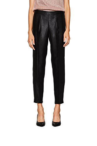 Damen Stretch-wolle Slim Pant (ESPRIT Collection Damen Hose 117EO1B007, Schwarz (Black 001), 36)