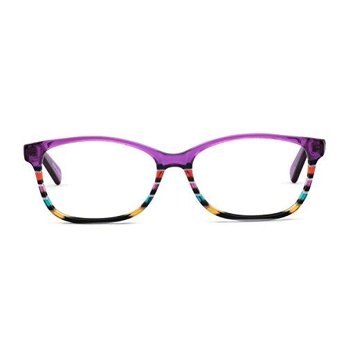 ahmen Optische Brillen Rahmen Green Brille Optische Gläser Vintage Metall Oval Brille Leichte Brillen Full Damen... ()