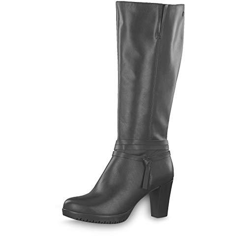 Tamaris Damen Stiefel 25532-23, Frauen KlassischeStiefel, elegant Women's Women Woman Freizeit leger Boots reißverschluss Damen,Black,40 EU / 6.5 UK