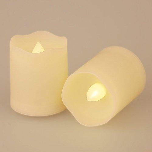 Conjunto de 9LED funciona con pilas sin llama velas con mando a distancia Extended Tiempo de iluminación de intensidad regulable para fiestas de cumpleaños bodas festivales decoración Navidad velas