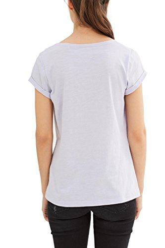 edc by ESPRIT Damen T-Shirt Violett (Lavender 570)