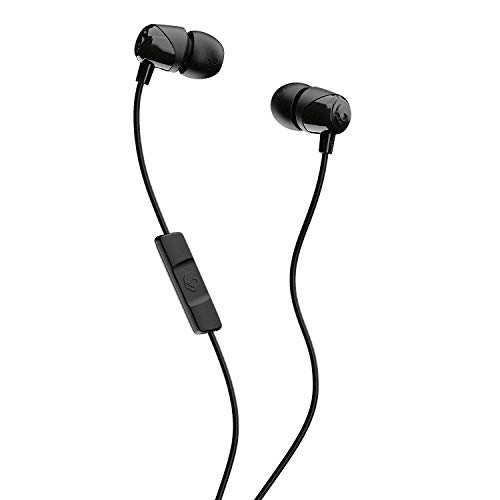 Skullcandy Jib In-Ear Noise-Isolating Earbuds with Microphone and Remote for Hands-Free Calls, Lightweight, Stereo Sound and Enhanced Base, Wired 3.5mm Jack Connectivity, Black