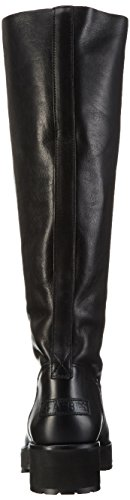 Shabbies AmsterdamShabbies 45cm highboot New Poro sole Pointy Lois - Stivali alti antiscivolo Donna Nero