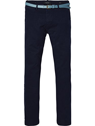Scotch & Soda Herren Hose Classic Garment Dyed Chino Pant in Stretch Cotton Quality, Blau (Ink 0132), 32/34