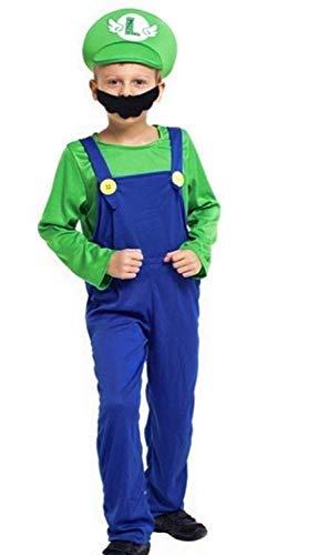 Kinder Kostüm Klempner Luigi - Fasching ()