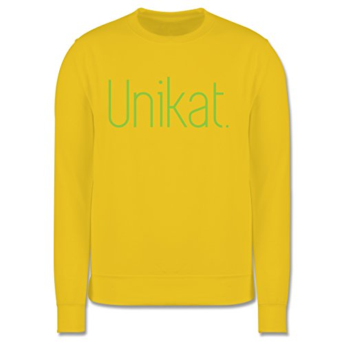 Statement Shirts - Unikat - Herren Premium Pullover Gelb