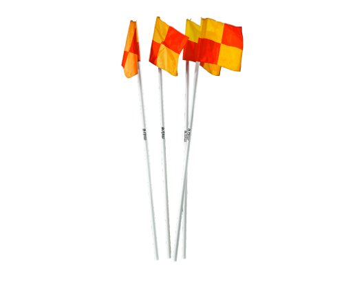 Mitre A9110 Corner Flags  Set of 4   White  15 inch