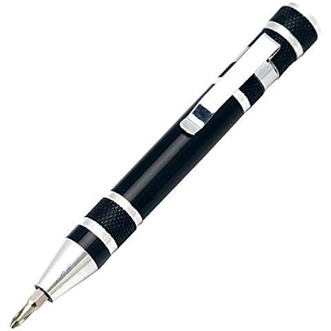TRIXES 8 Piezas Destornilladores en Forma Bolígrafo Negro