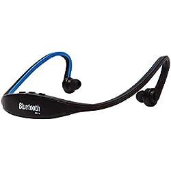 CAOQAO sans Fil Conduction Osseuse Casque,Casque Conduction Osseuse Bluetooth avec Microphone HD Et ContrôLe du Volume pour Casque Sports De Plein Air pour IPhone pour Course/Gym/Jogging(Bleu,)