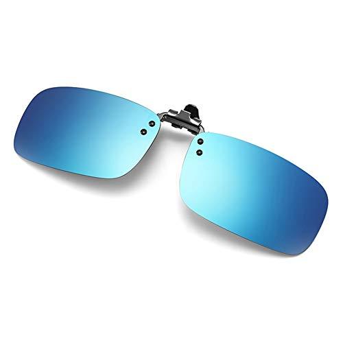 YIWU Brillen & Zubehör Sonnenbrillen Clip Sonnenbrillen Herrenbrillen Polarisiertes Fischen Nachtsicht Anti-High Beam (Color : Ice Blue)