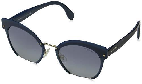 Miu Miu Damen 0MU53TS WWK3A0 53 Sonnenbrille, Blau (Bluette/Grey Blue Silver)