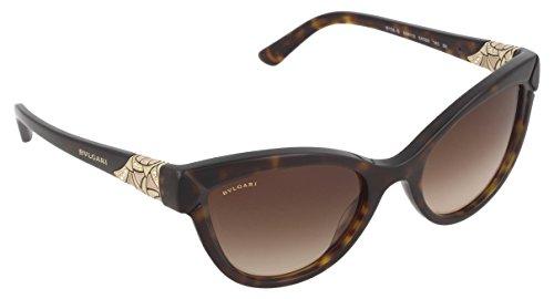 Bulgari Damen 0BV8156B 504/13 54 Sonnenbrille, Braun (Dark Havana/Browngradient),