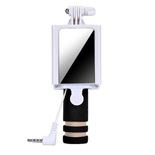Tefamore Palo Selfie Mini cámara Handheld del monopio del palillo de Selfie para el borde de la galaxia S7 de Samsung (Negro)