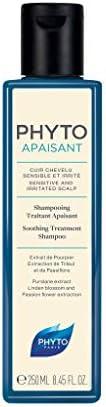 Phyto Phytoapaisant Shampoo Trattante Lenitivo Non Aggressivo per il Cuoio Capelluto Sensibile e Irritato, For