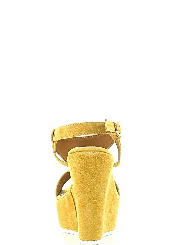 GRACE SHOES 15015 Sandalo zeppa Donna Nero