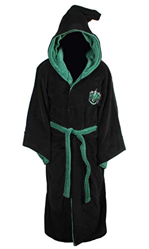 Harry Potter Slytherin Wizard Fleece Bademantel
