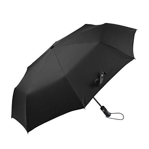 Ombrello automatico apri e chiudi antivento da uomo, antivento ombrello pioggia pieghevole compatto da viaggio per uomini e donne, automatico ai Funny-Garanzia a Vita (Nero), Black (Rosson, nero) - U-R
