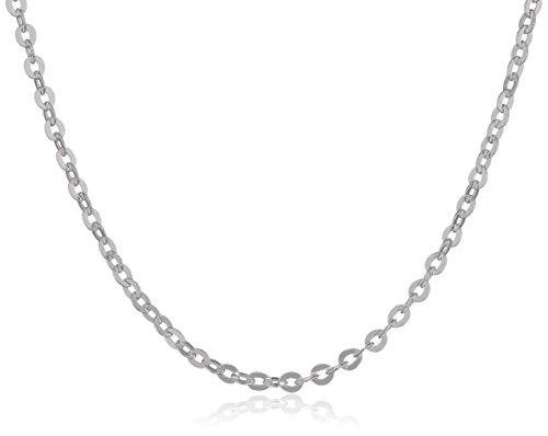 MATERIA feine Ankerkette 925 Sterling Silber - 1mm Halskette silber in 40 45 50 60 70 cm verfügbar #K30, Länge Halskette:60 cm