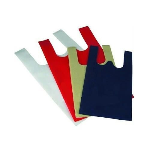 "SK Packing W-Cut Non Woven Carry Bags 20 GSM (16"" X 20""-Inches) 100 Pcs."
