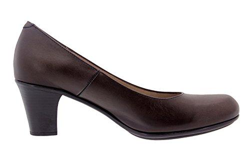 Chaussure femme confort en cuir Piesanto 3475 basse casual comfortables amples Caoba
