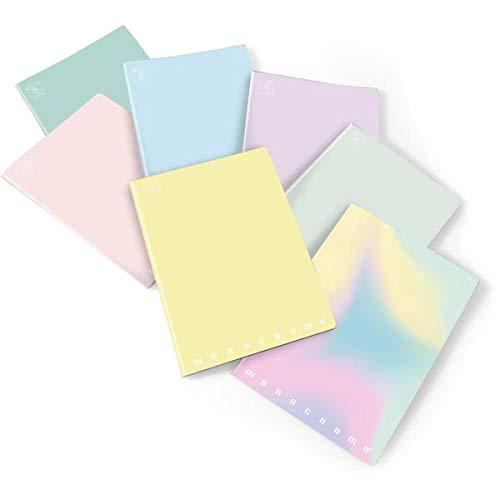 Pigna 02282120c quaderno monocromo pastel assortito, a4, 80g