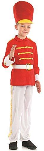 Jungen süß Dose Spielzeug Soldaten kleiner Schlagzeuger Weihnachten Weihnachten Nussknacker Welttag des Buches Woche Karneval Kostüm Verkleidung Outfit 4-12yrs Jahre - 8-10 years (Nussknacker Kostüm)