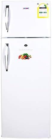 KMC KMF-255H Freezer on Top Refrigerator, 255 Litre Capacity, White