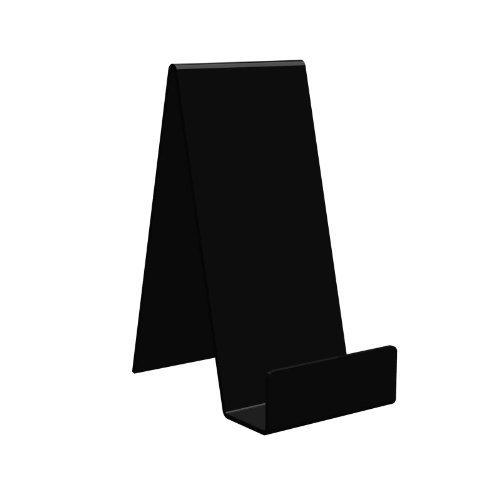 Displaypro 10x large negro acrílico función atril, para sujetar libros, teléfonos, hondos y más.–envío gratuito.