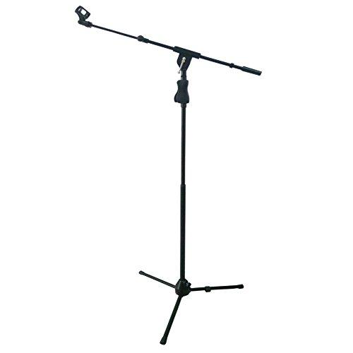St.oswalds metallo treppiedi asta porta microfono a giraffa supporto per microfono con clip nero