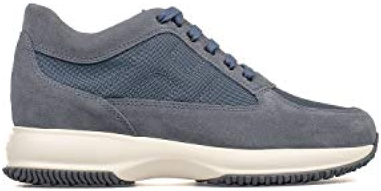 Donna   Uomo Hogan scarpe da ginnastica ginnastica ginnastica Uomo HXM00N00E10B2A9998 Tessuto Blu Aspetto estetico Qualità stabile comodo | Nuovo 2019  3ecb5d